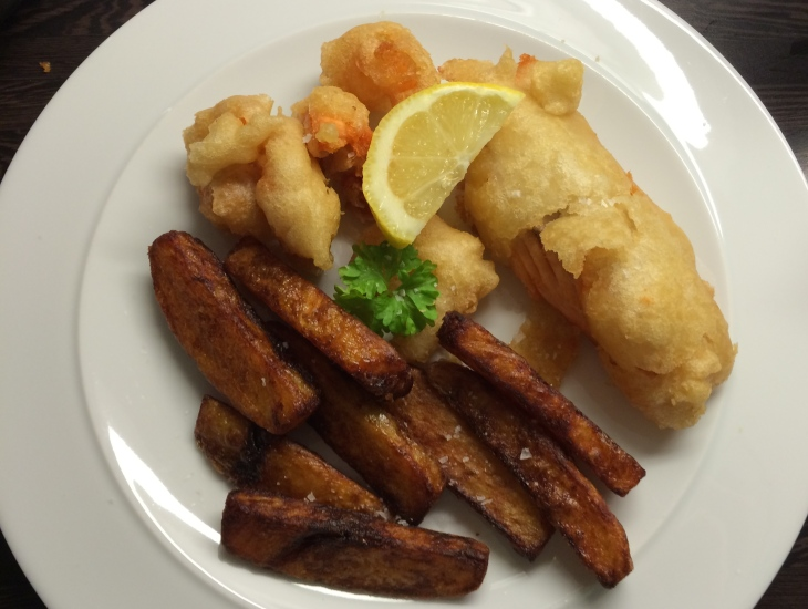 photo of fish and chips